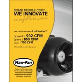 "Can Fan Max 8"" 932 CFM 3 speed"