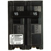 Siemens 2 Pole Common Trip 15 Amp Type Q Circuit Breaker, 10,000 A.I.C. 120/240V