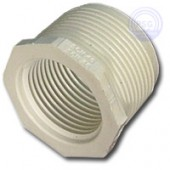 White PVC TT Reducing Bushing (Mpt x Fpt)